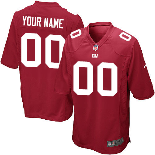 Nike New York Giants Customized Game Red Jerseys