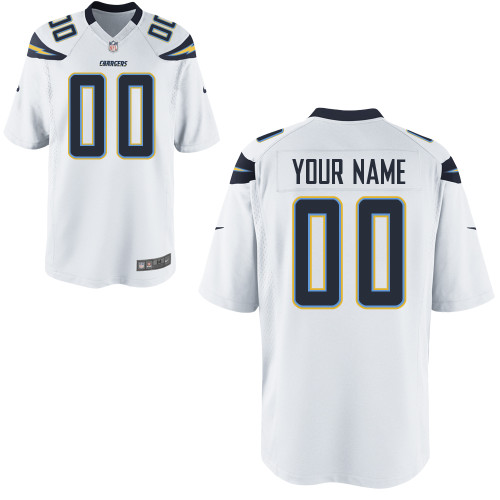 Nike San Diego Chargers Customized Game White Jerseys