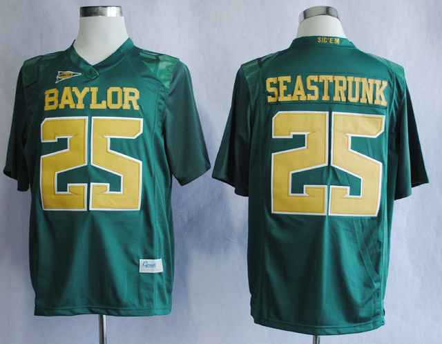 Baylor Bears Lache Seastrunk 25 College Green Jerseys