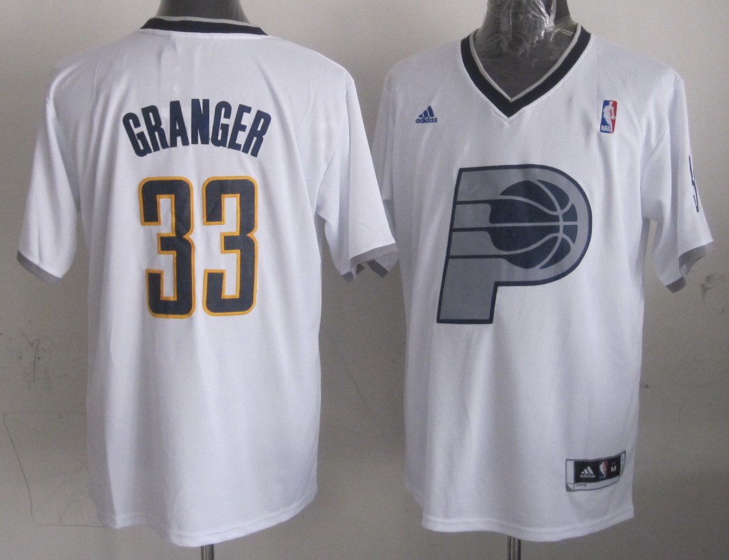 Pacers 33 Granger White Christmas Edition Jerseys