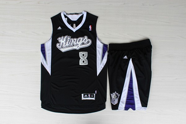 Kings 8 Gay Black Jersey(With Shorts)
