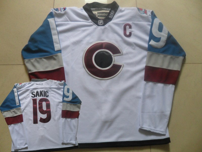 Avalanche 19 Joe Sakic White 2016 Stadium Series Reebok Jersey