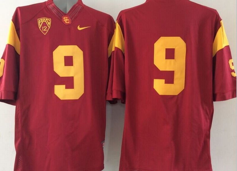 USC Trojans #9 Red College Jersey