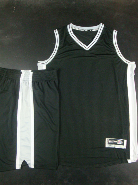 Spurs Blank Black Swingman Jersey(With Shorts)
