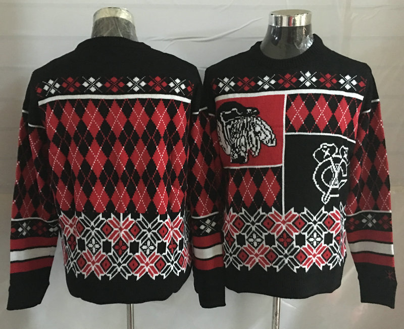 Chicago Blackhawks Crew Neck Men's Ugly Sweater
