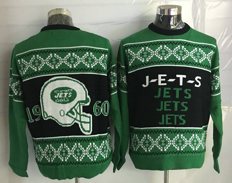New York Jets Crew Neck Men's Ugly Sweater