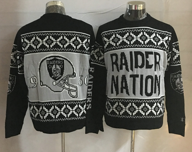 Oakland Raiders Crew Neck Men's Ugly Sweater