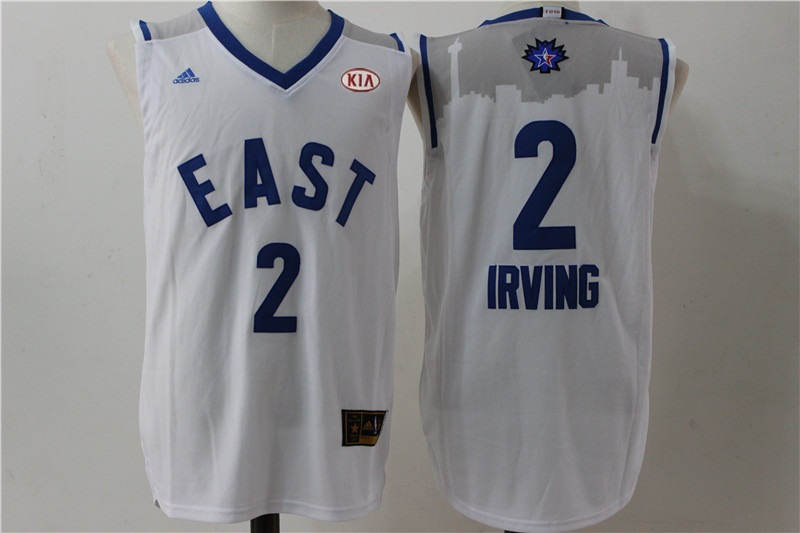Cavaliers 2 Kyrie Irving White 2016 All Star East Jersey