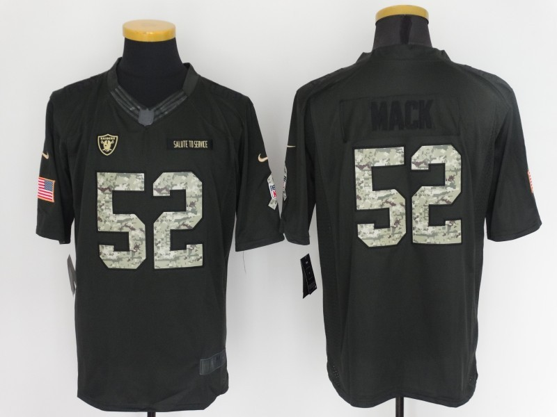 Nike Raiders 52 Khalil Mack Anthracite Salute to Service Limited Jersey