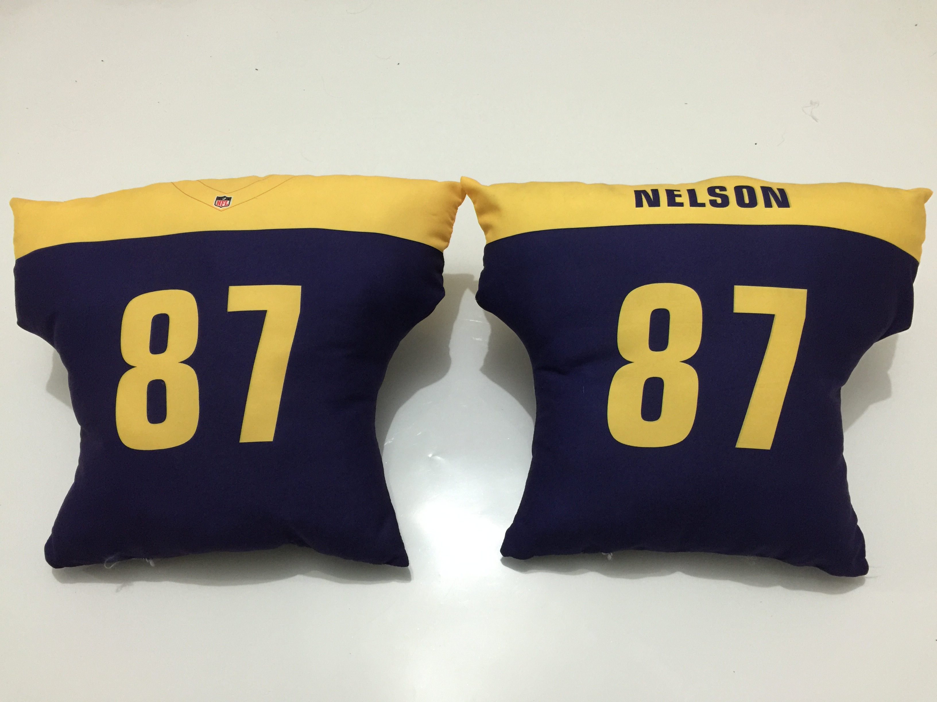 Green Bay Packers 87 Jordy Nelson Navy NFL Pillow