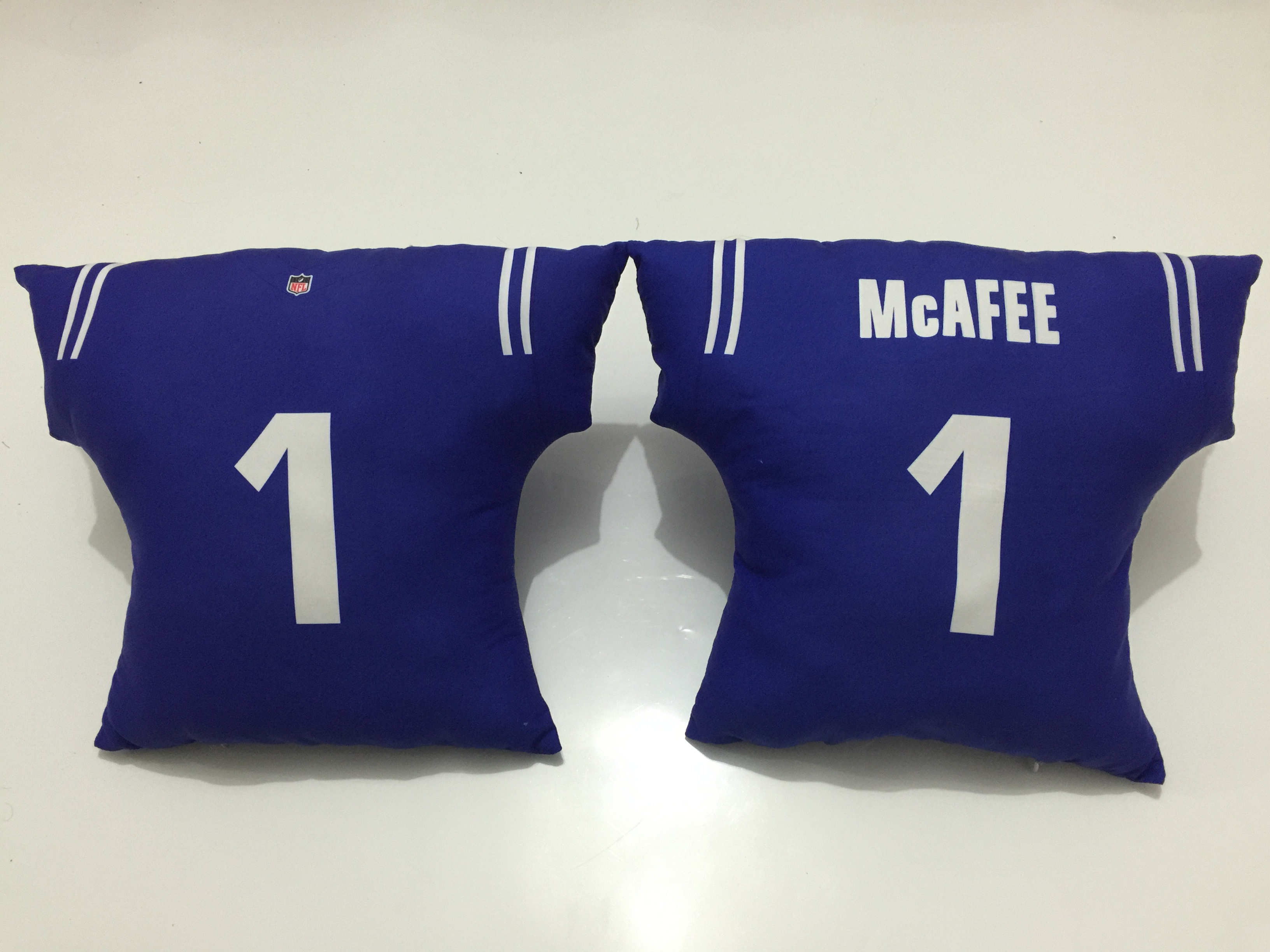 Indianapolis Colts 1 Pat McAfee Blue NFL Pillow