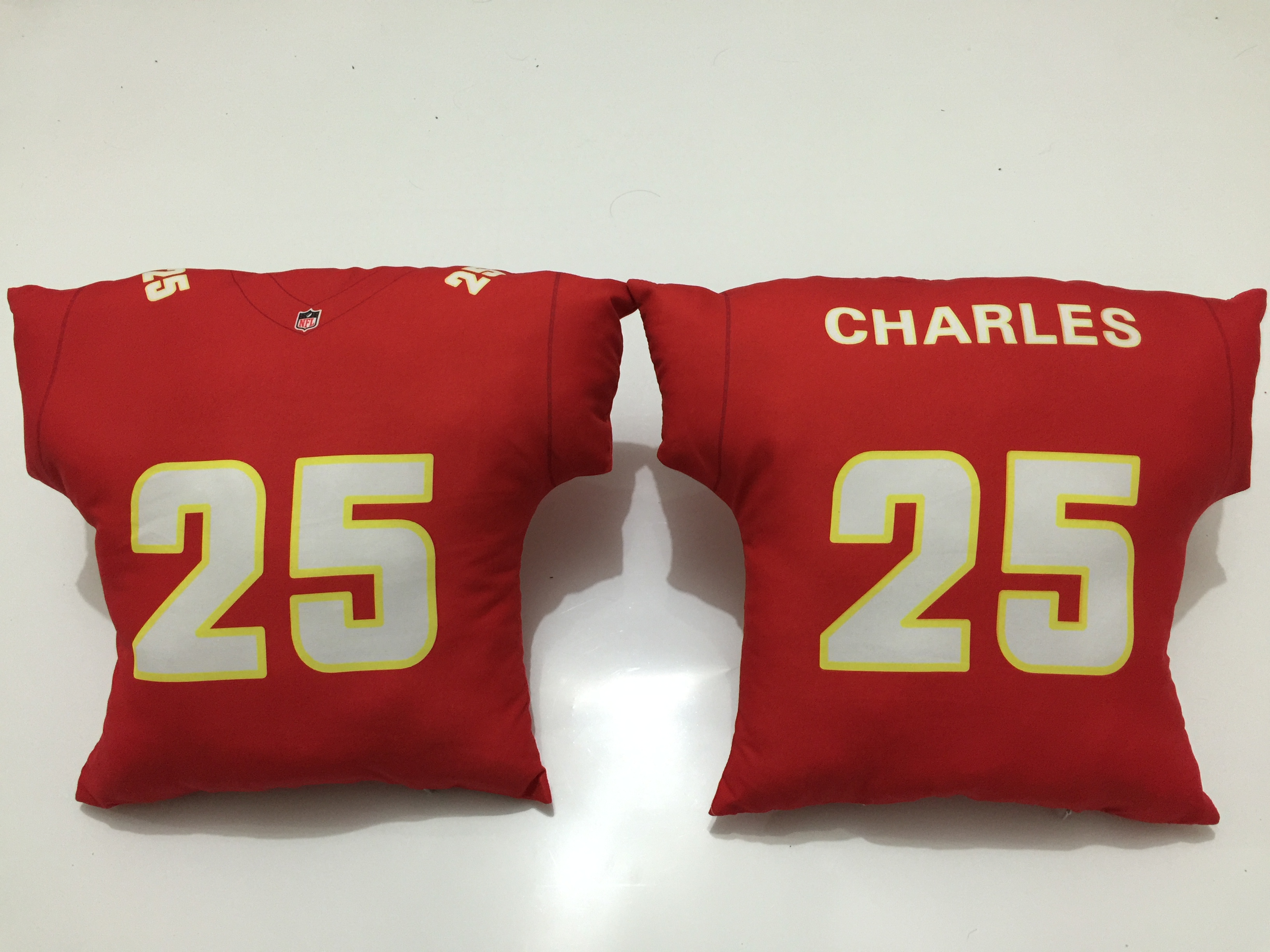 Kansas City Chiefs 25 Jamaal Charles Red NFL Pillow