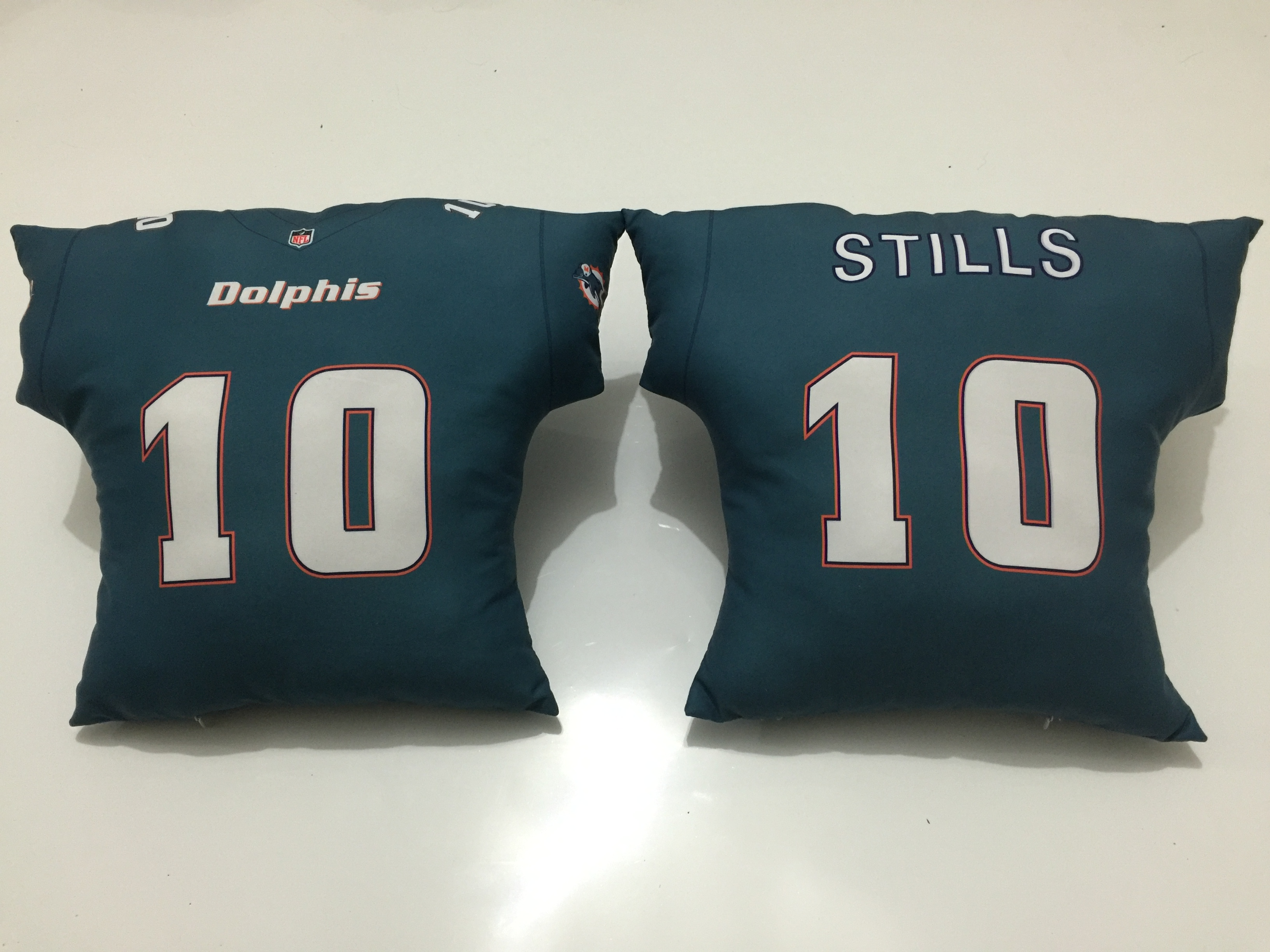 Miami Dolphins 10 Kenny Stills Aqua NFL Pillow