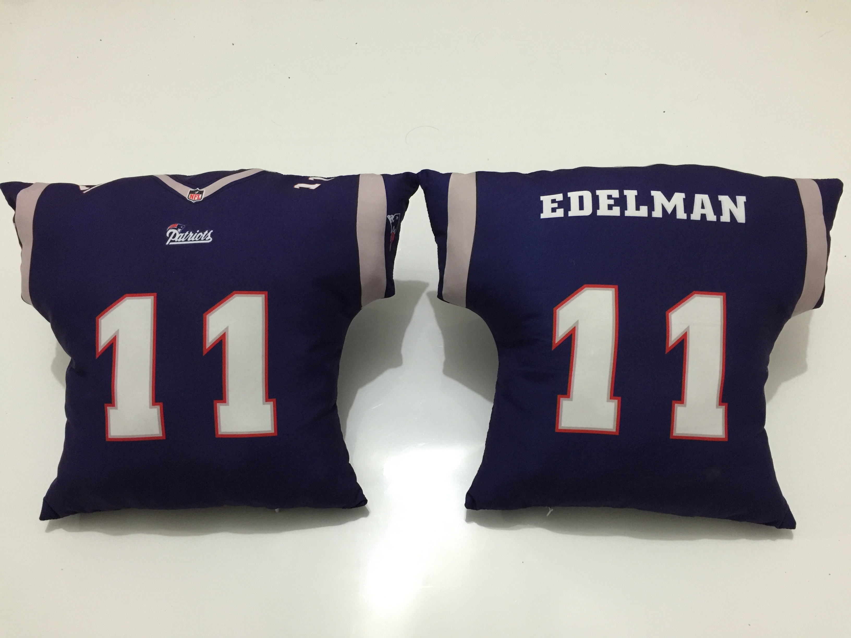 New England Patriots 11 Julian Edelman Navy NFL Pillow