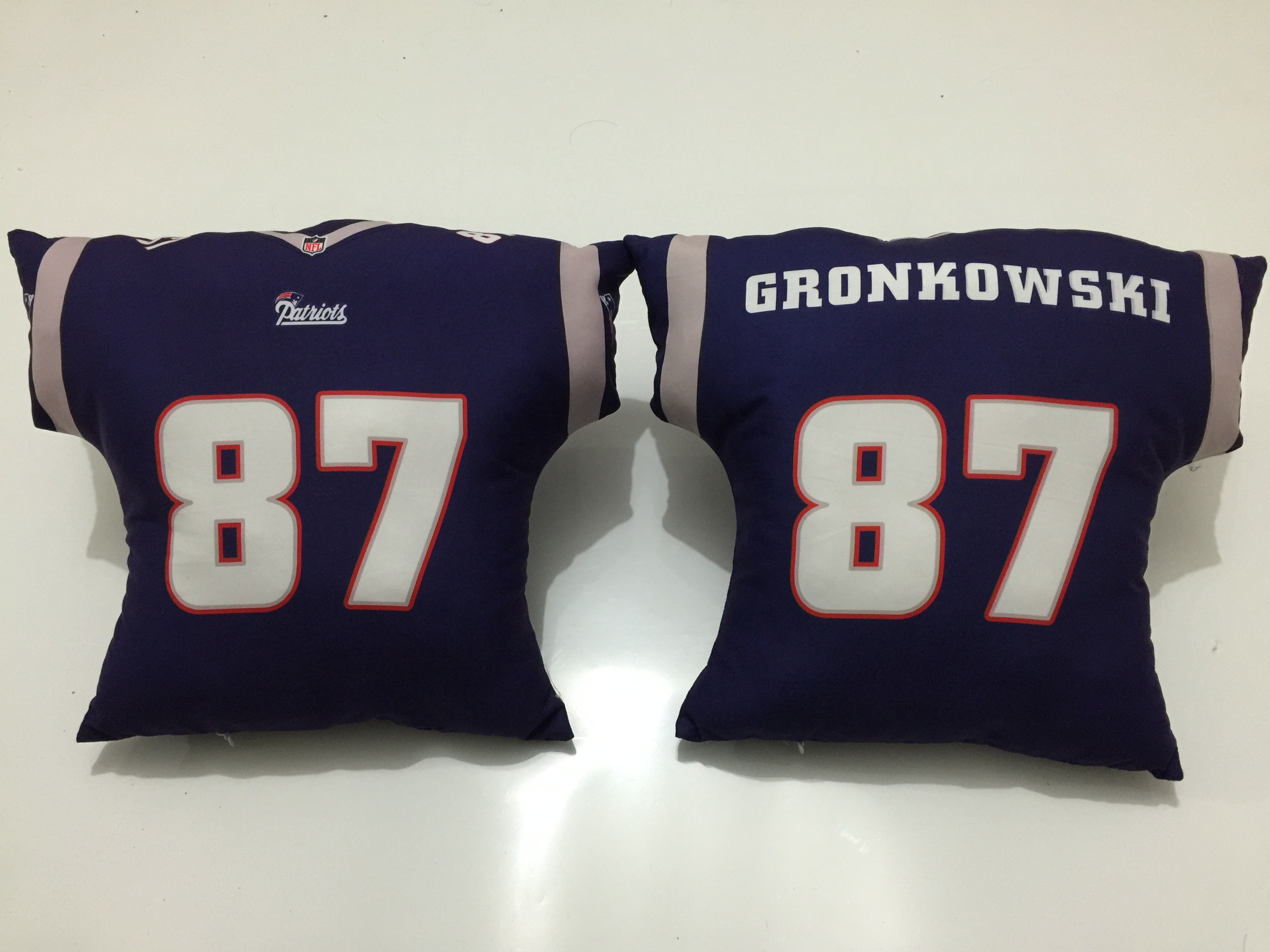 New England Patriots 87 Rob Gronkowski Navy NFL Pillow