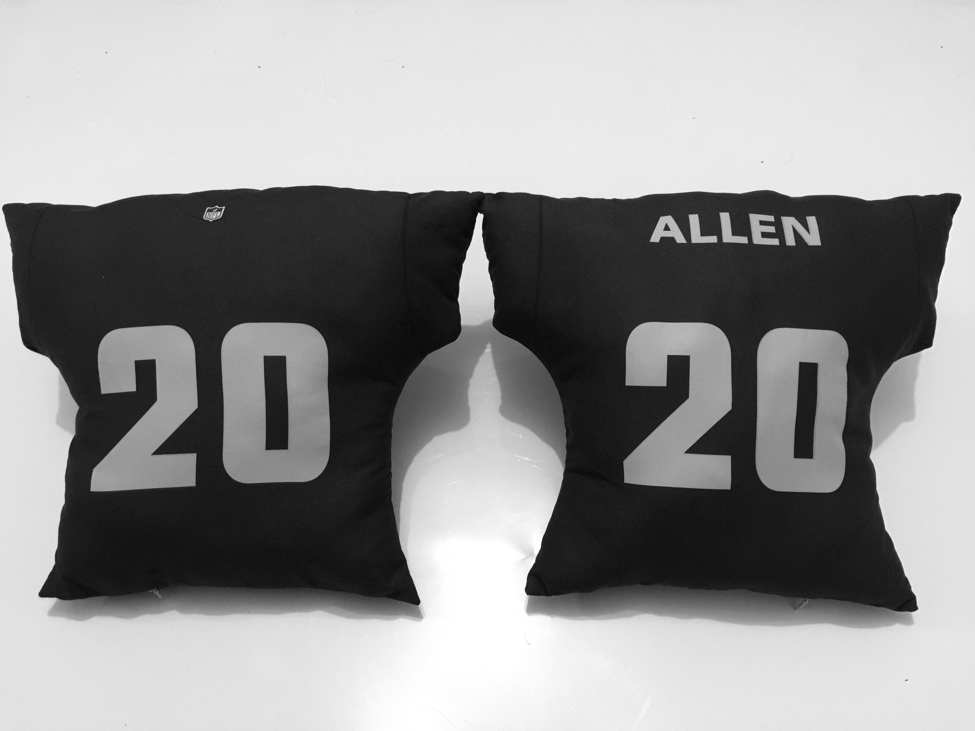 Oakland Raiders 20 Nate Allen Black NFL Pillow