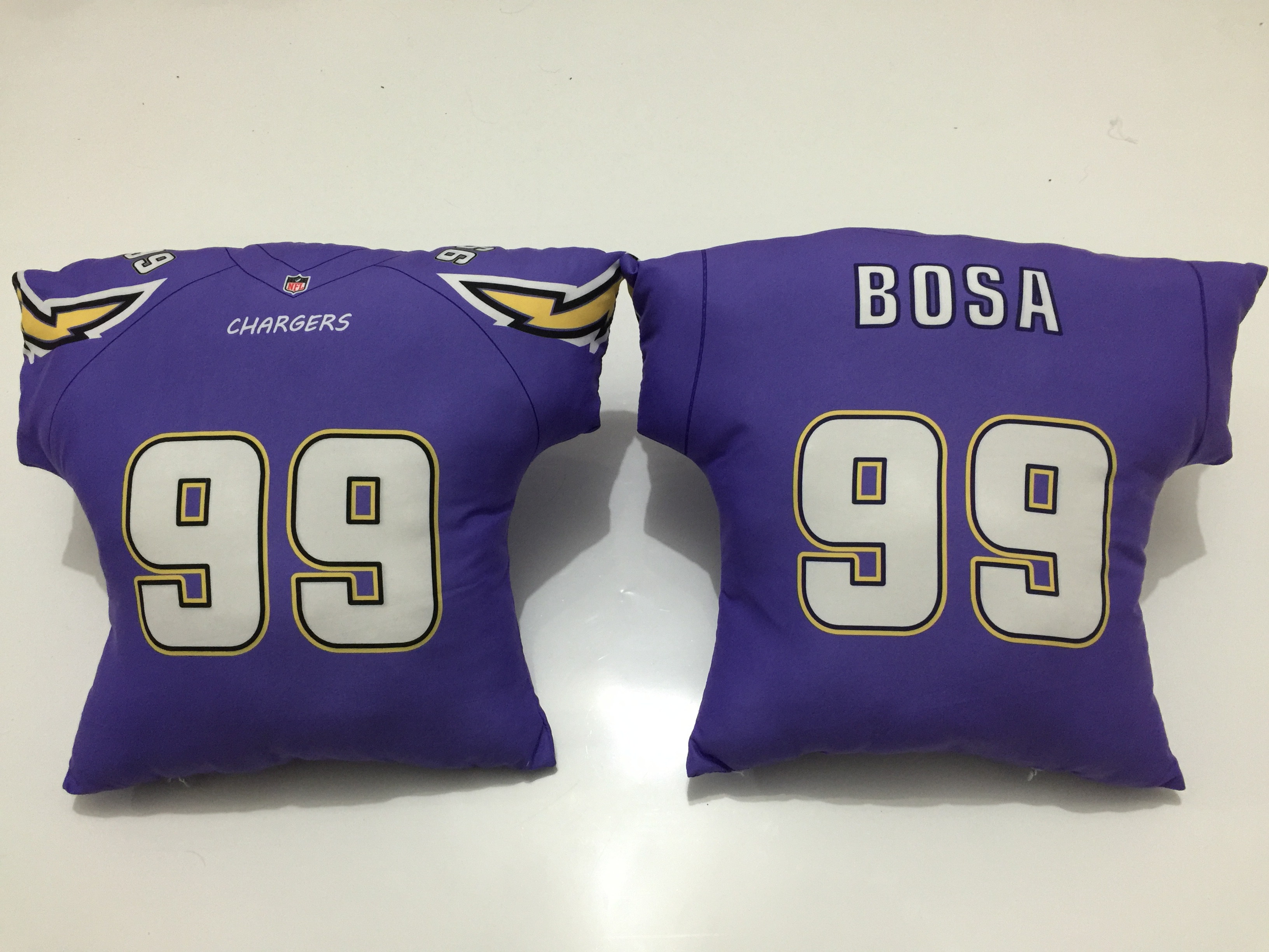 San Diego Chargers 99 Joey Bosa Purple NFL Pillow