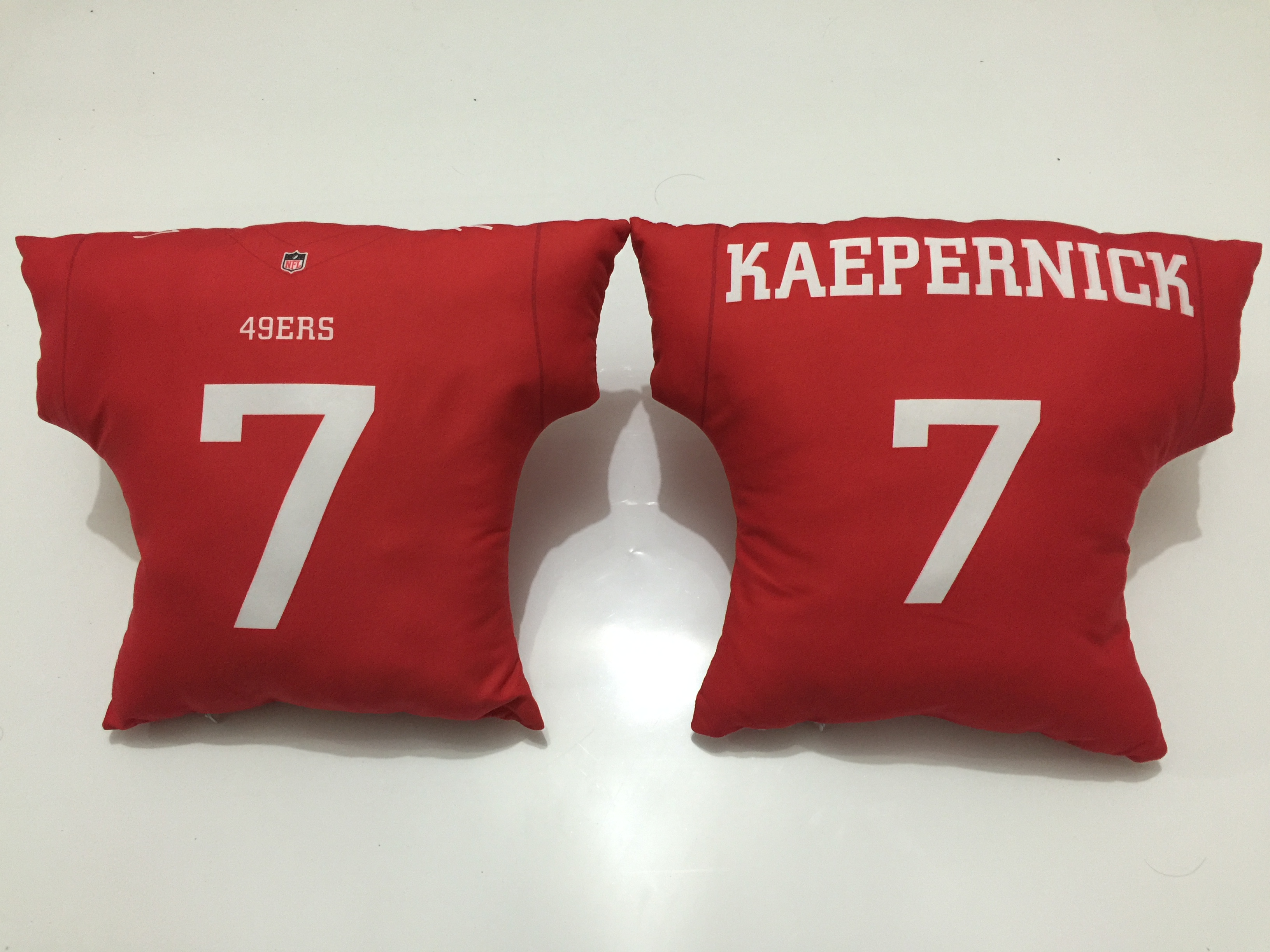 San Francisco 49ers 7 Colin Kaepernick Red NFL Pillow