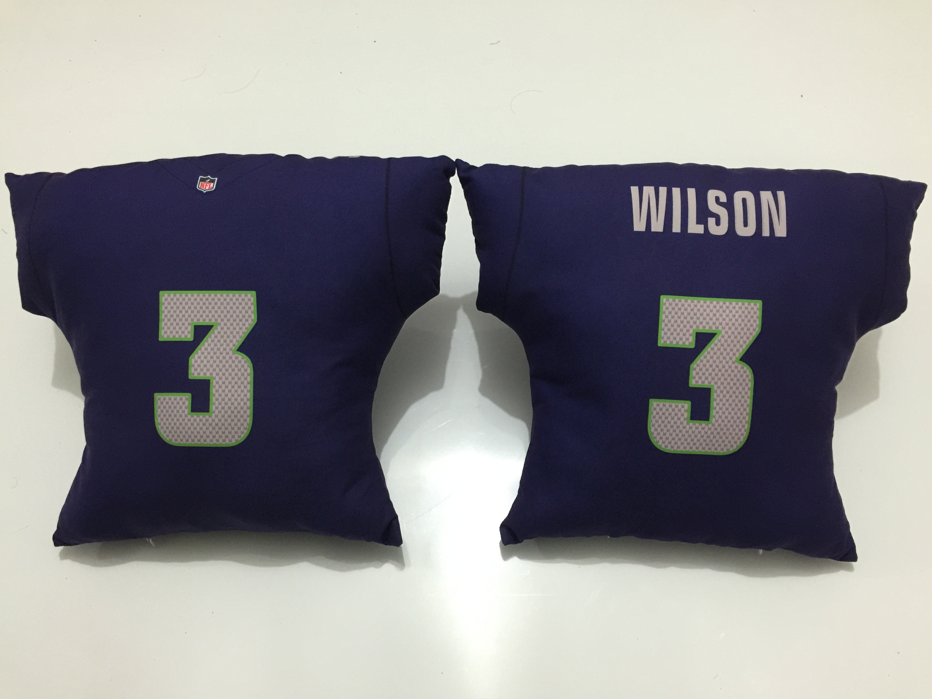 Seattle Seahawks 3 Russell Wilson Navy NFL Pillow