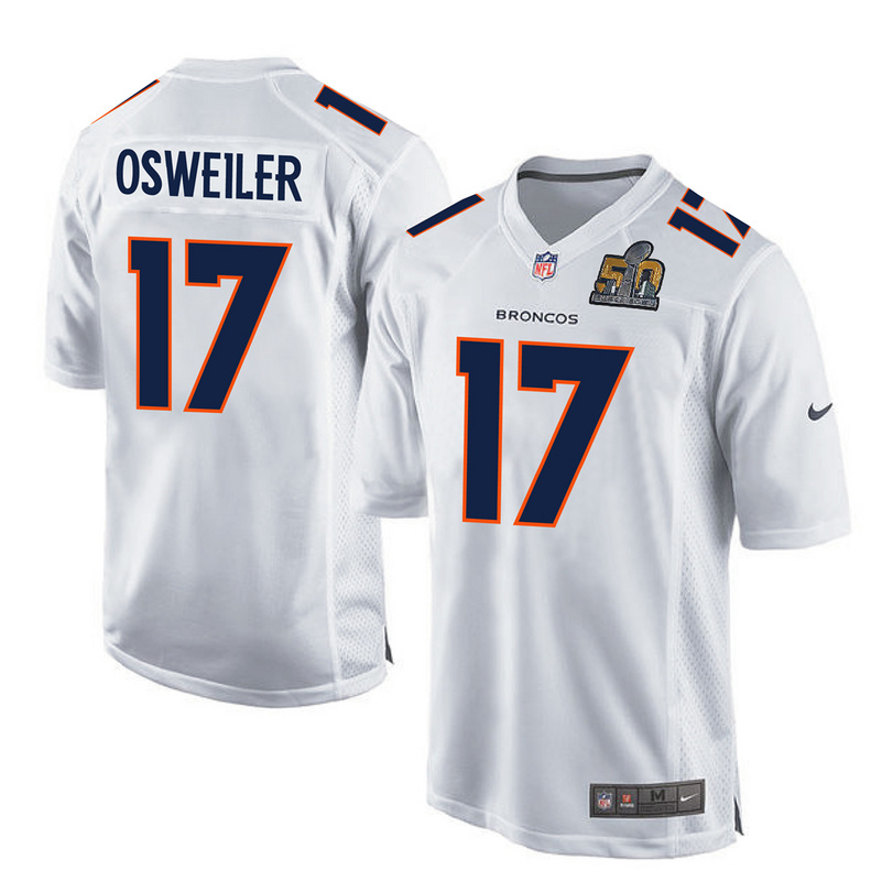 Nike Broncos 17 Brock Osweiler White Youth Super Bowl 50 Bound Game Event Jersey