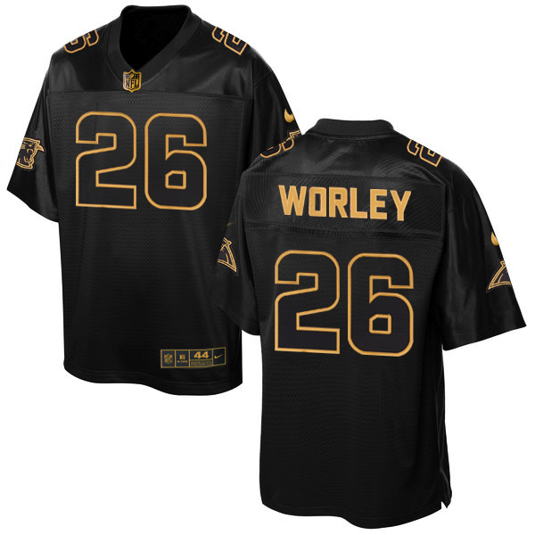 Nike Panthers 26 Daryl Worley Pro Line Black Gold Collection Elite Jersey