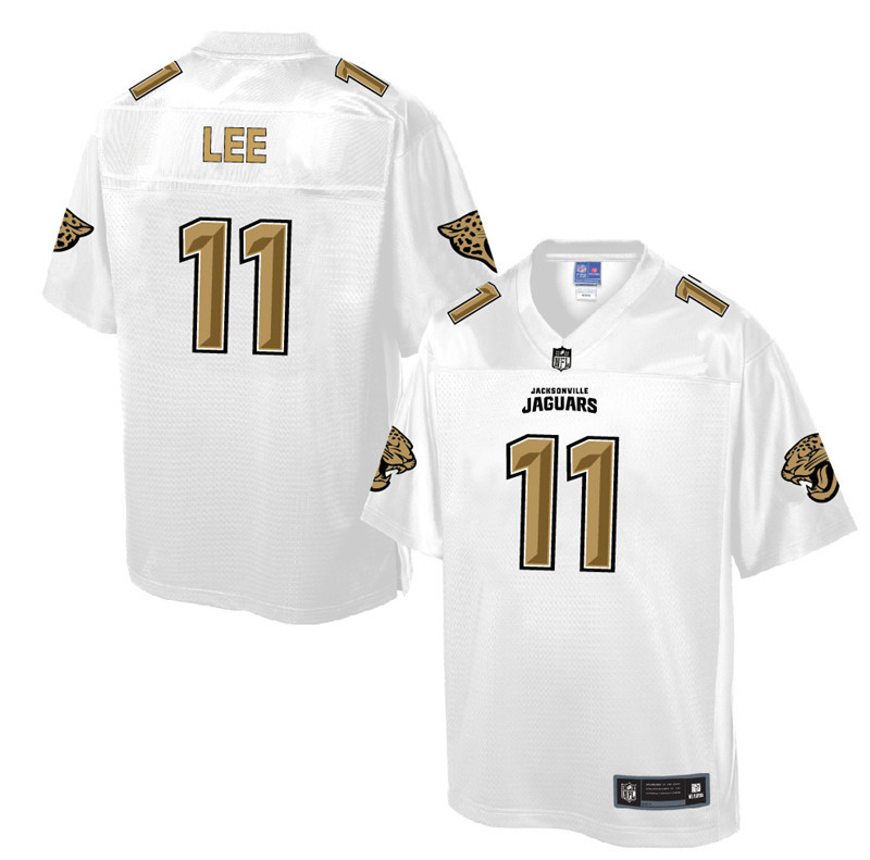 Nike Jaguars 11 Marqise Lee Pro Line White Gold Collection Elite Jersey