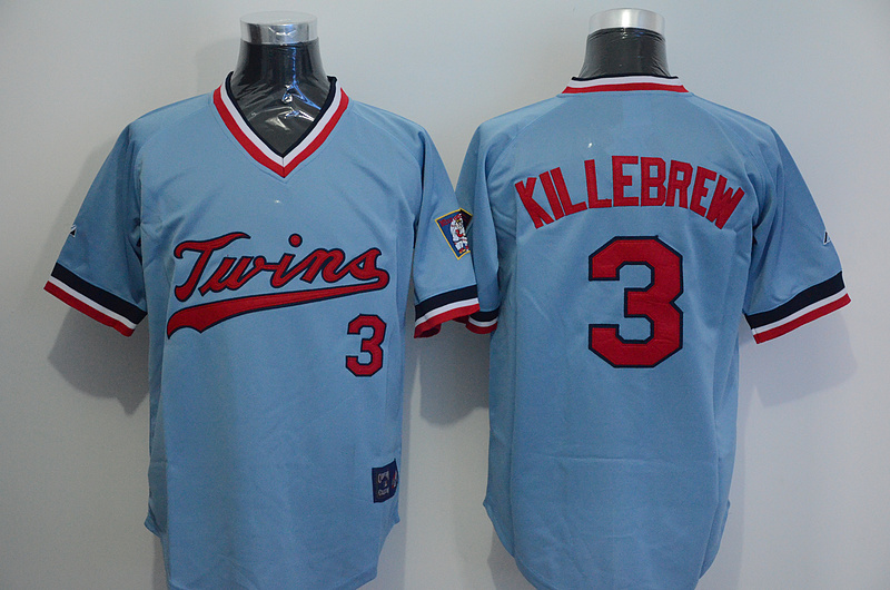 Twins Harmon Killebrew Light Blue Throwback Jersey
