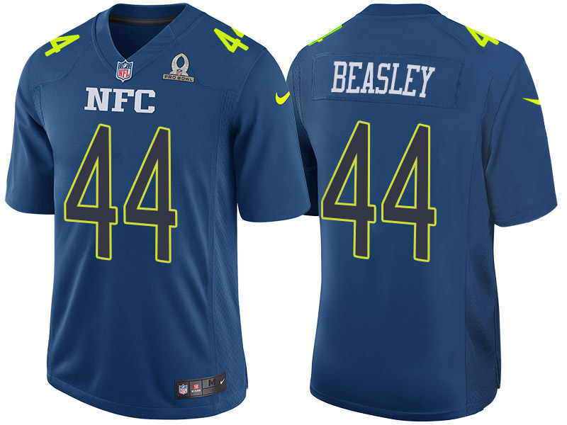 Nike Falcons 44 Vic Beasley Blue 2017 Pro Bowl Game Jersey