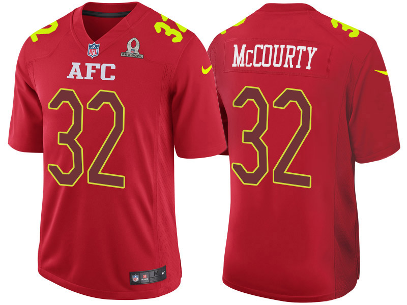 Nike Patriots 32 Devin McCourty Red 2017 Pro Bowl Game Jersey