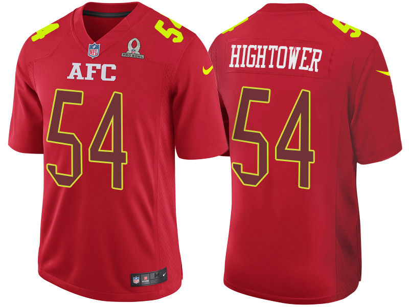 Nike Patriots 54 Dont'a Hightower Red 2017 Pro Bowl Game Jersey