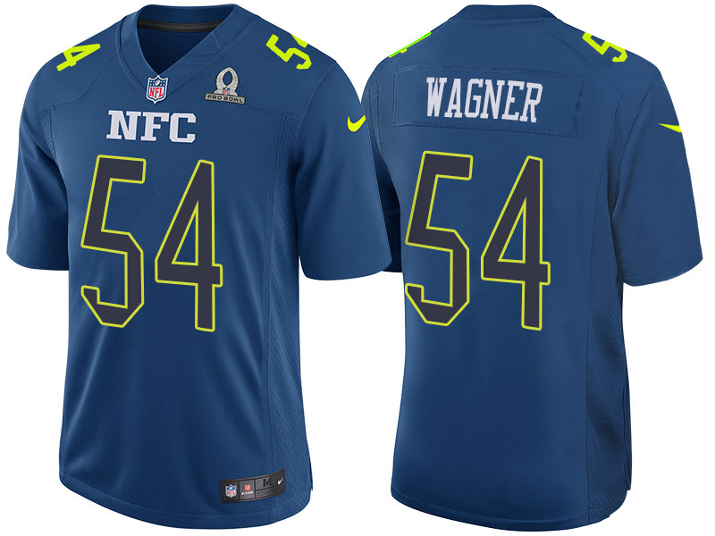 Nike Seahawks 54 Bobby Wagner Blue 2017 Pro Bowl Game Jersey