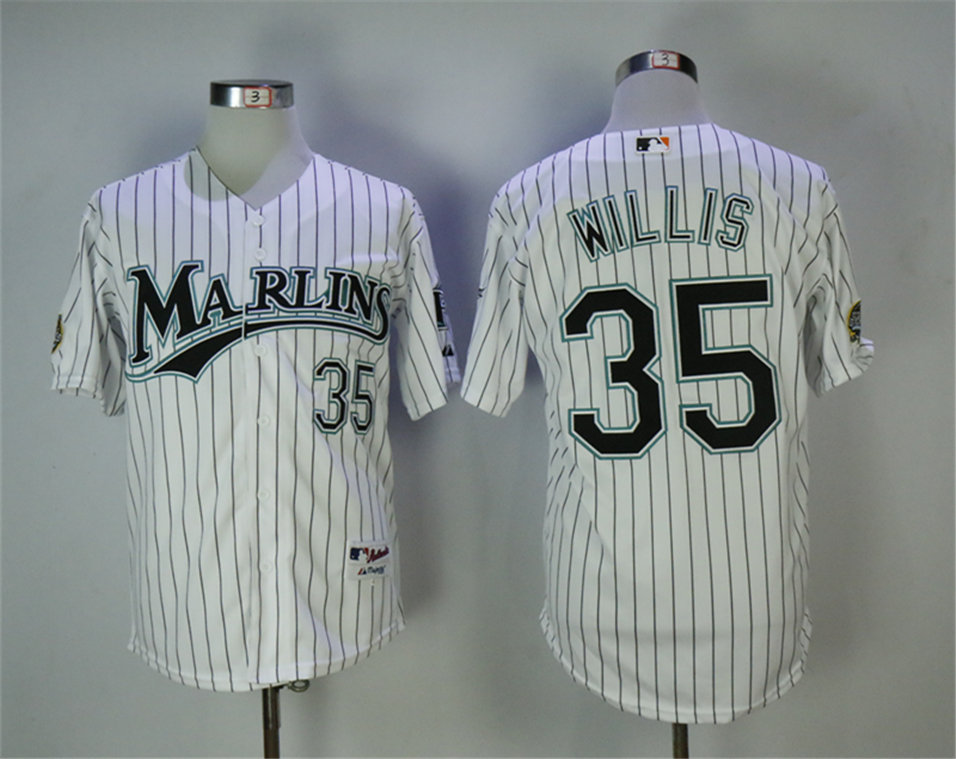 Marlins 35 Dontrelle Willis White Throwback Jersey