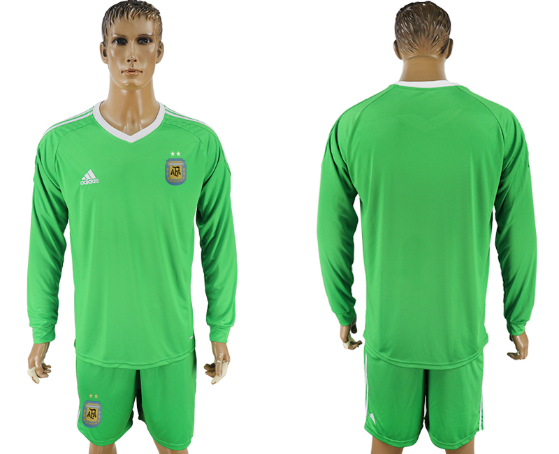 Argentina Army Long Sleeve Goalkeeper 2018 FIFA World Cup Soccer Jersey