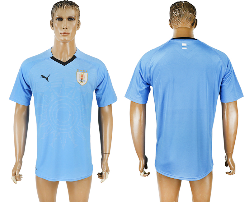 Uruguay Home 2018 FIFA World Cup Thailand Soccer Jersey
