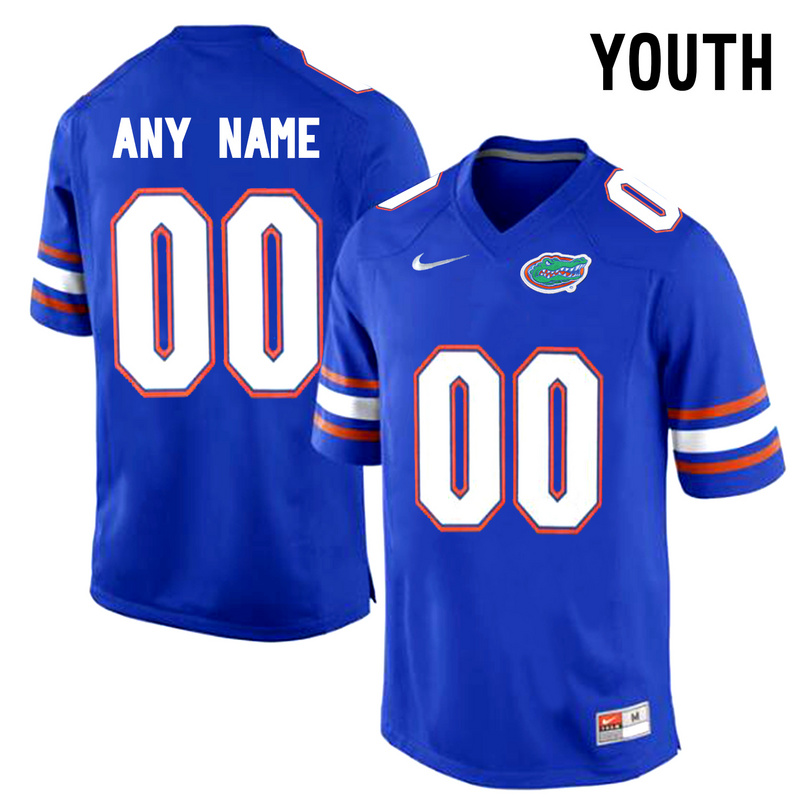 Florida Gators Blue Youth Customized College Jersey