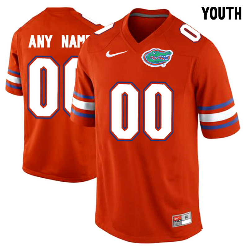 Florida Gators Orange Youth Customized College Jersey