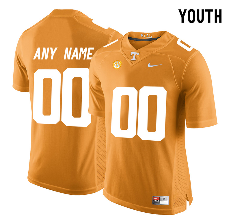 Tennessee Volunteers Orange 2016 SEC Youth Customized College Jersey