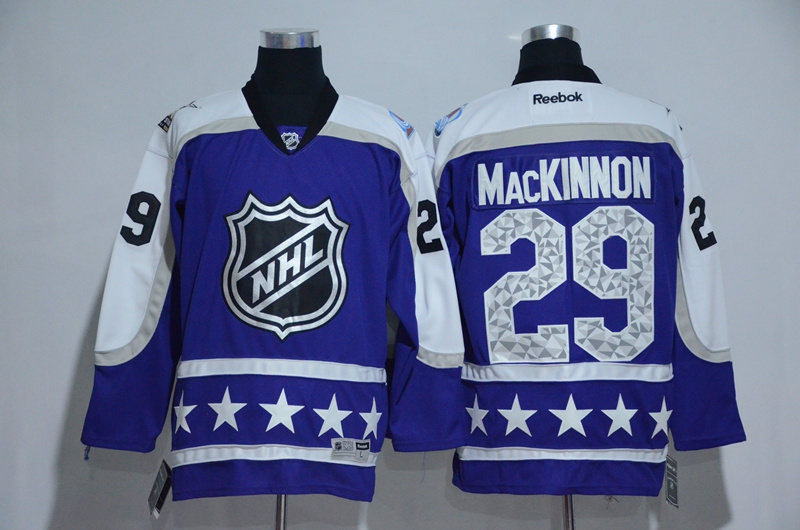 Avalanche 29 Nathan MacKinnon Purple Central Division 2017 NHL All-Star Game Premier Jersey