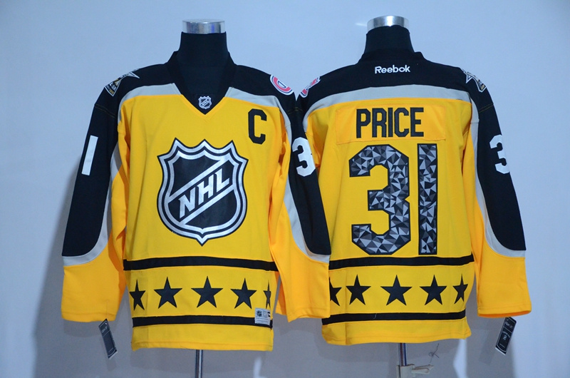 Canadiens 31 Carey Price Yellow Atlantic Division 2017 NHL All-Star Game Premier Jersey