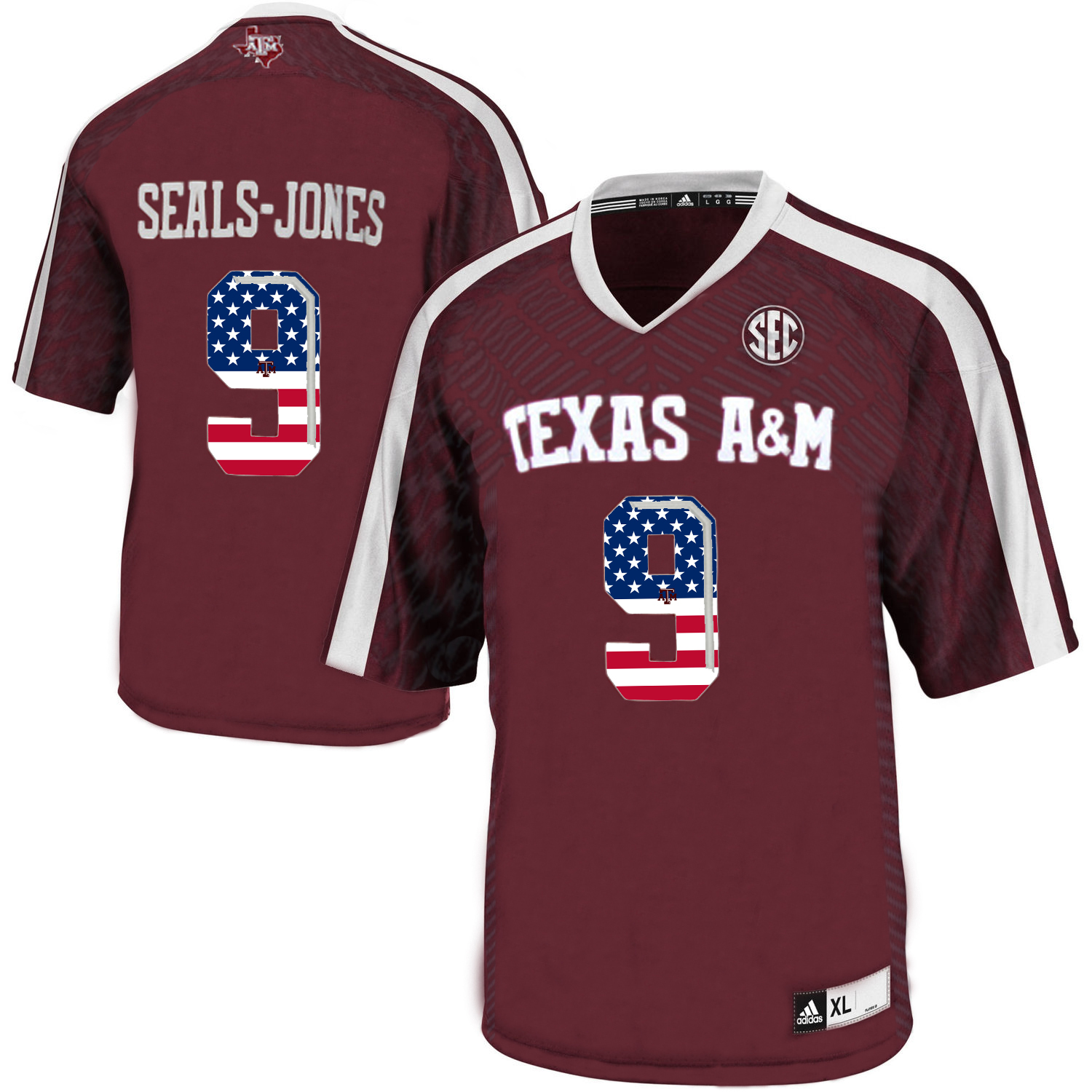 Texas A&M Aggies 9 Ricky Seals Jones Red College Football Jersey