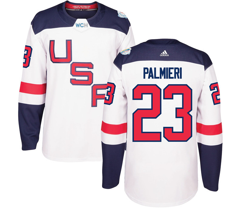 USA 23 Kyle Palmieri White 2016 World Cup Of Hockey Premier Player Jersey