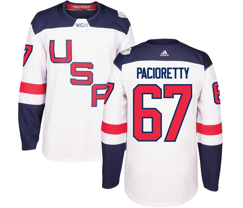 USA 67 Max Pacioretty White 2016 World Cup Of Hockey Premier Player Jersey