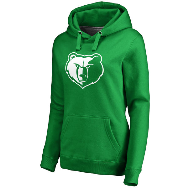 Memphis Grizzlies Fanatics Branded Women's Kelly Green St. Patrick's Day White Logo Pullover Hoodie