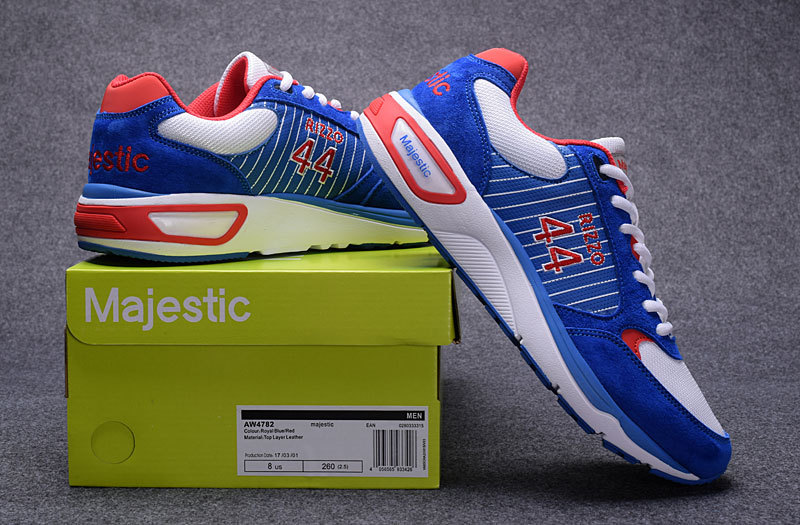 Men's Chicago Cubs 44 Anthony Rizzo Blue Majestic Sport Shoes