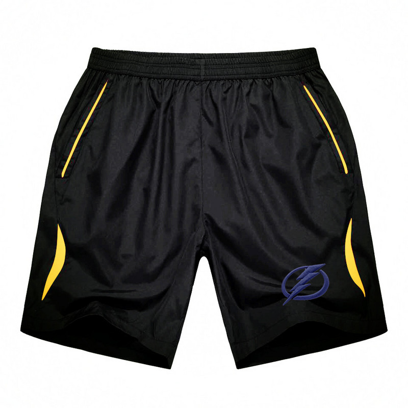 Men's Tampa Bay Lightning Black Gold Stripe Hockey Shorts