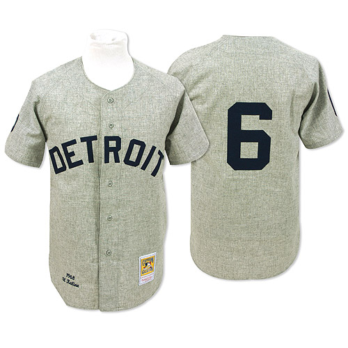 Tigers 6 Al Kaline Grey 1968 Throwback Mitchell And Ness Jersey