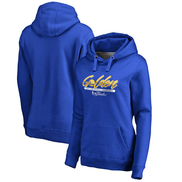 Golden State Warriors 2017 NBA Champions Royal Women's Pullover Hoodie4