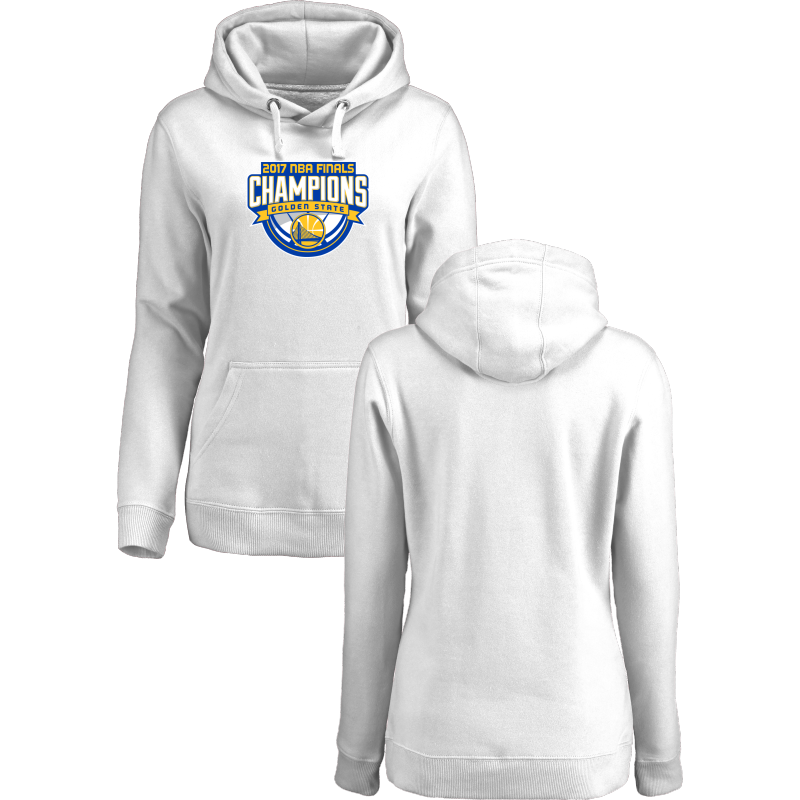 Golden State Warriors 2017 NBA Champions White Women's Pullover Hoodie