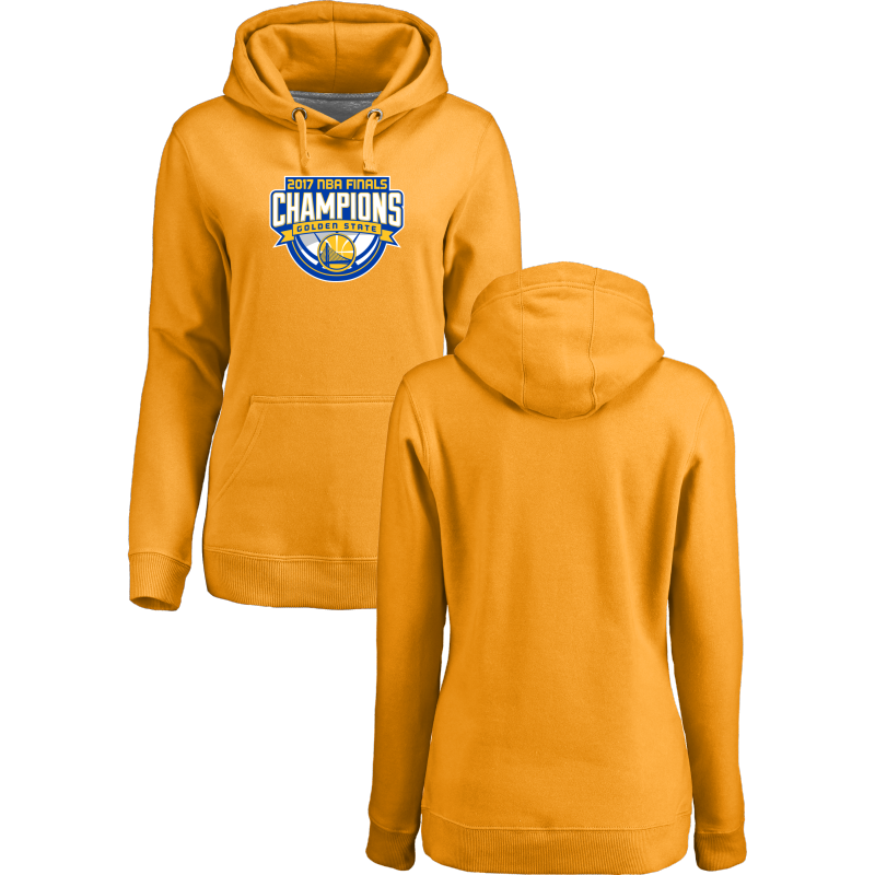 Golden State Warriors 2017 NBA Champions Yellow Women's Pullover Hoodie