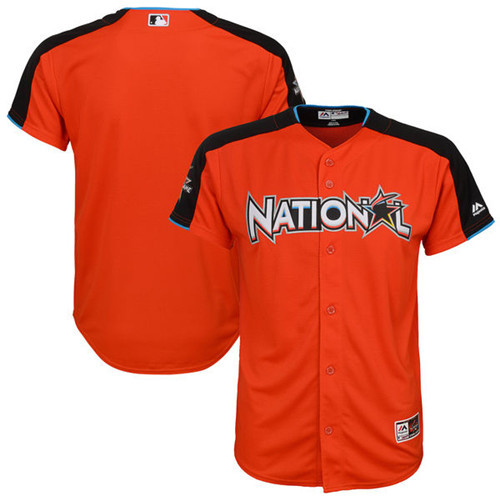 Youth National League Majestic Orange 2017 MLB All-Star Game Home Run Derby Team Jersey